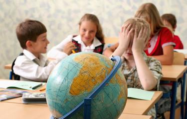 Pupils communicating at classroom
