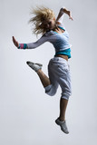 Fototapety stylish and cool looking breakdancer jumping