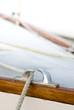 détail d'un voilier en bois