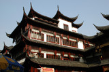 China, Shanghai city. Ancient, Chinese building in old town.