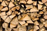 Firewood pile close up poster