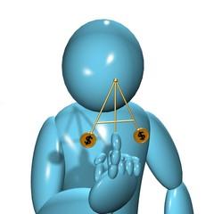 3DMan balancing coin toy