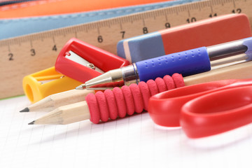 back to school - close-ups of school supplies