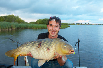 Trophey carp. 15 kilograms. Perfect Fishing.