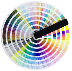 Color circle isolated with clipping path