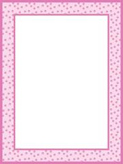 Pink Girls Paw print Frame