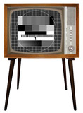 Old Nostalgic BW Television poster
