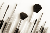 makeup brush on a white background isolated poster