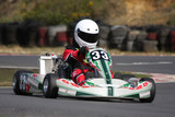 Minimax formula go kart coming into the chicane. poster