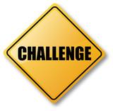 Challenge Road Sign poster