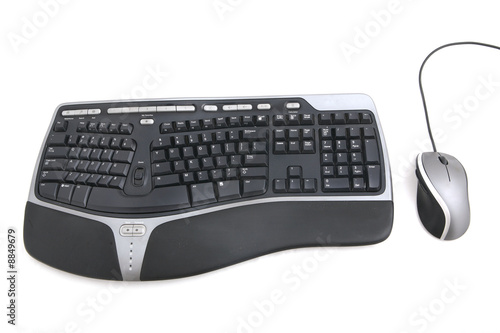 Isolated ergonomic keyboard and computer mouse