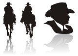 cow boy silhouette
