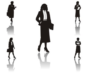 working woman silhouette