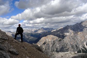 Dolomites Italy - via ferrata climber