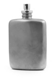 perfume atomizer details isolated on white, poster