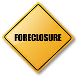 Foreclosure Caution Sign poster