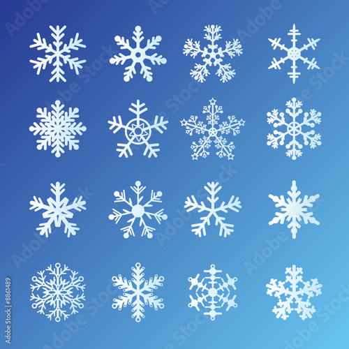 blue background vector. Set On Blue Background.