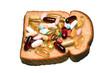 vitamins and bread