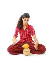 méditation sur l'alimentation saine