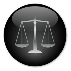 """Scales of Justice"" button (Silver)"