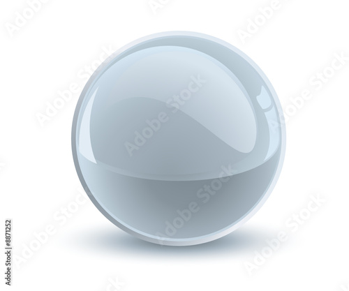 3d vector gray sphere