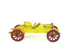 Old metal toy car yellow poster