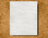 corkboard with a memo or message on it poster