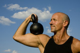 Kettlebell training from the front