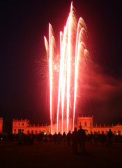 Firework at the Orangerie castle in Kassel, Germany