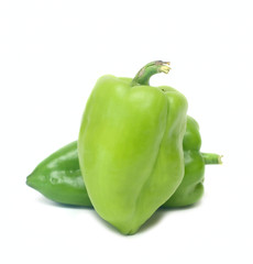Pepper Vegetables isolated on white