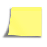 yellow empty memo on a white background poster