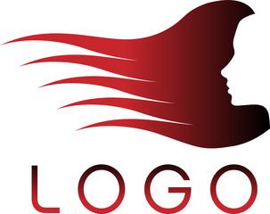 vector hair silhouette logo icon