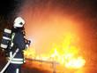 Leinwanddruck Bild - Feuerwehr im Einsatz