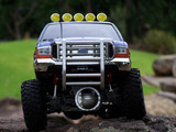RC 4x4 model on rocks