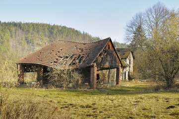 Ramshackle rural structure