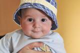 cute baby face closeup