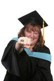 Excited Female Graduate Making a Humorous Expression poster