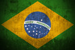 Weathered Flag Of Brazil, fabric textured