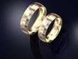 Pair of golden wedding rings design