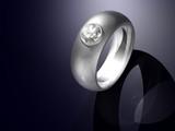 Briliant cut diamond set platinum ring design poster