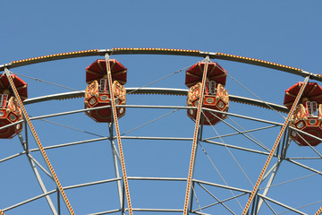 detail from big ferris wheel baskets