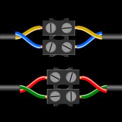 lüsterklemme gelb-blau / rot-grün