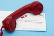 Telephone with overdue bill – call for help with your finances