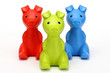 Red, green, blue piggy banks