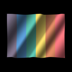Rainbow flag the symbol of the gay community