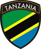 tanzania vector crest flag poster