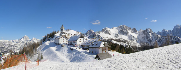 Mountain village panorama