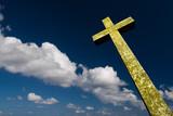 croix crucifix chrétien religion ciel catholique nuage dieu cieu poster