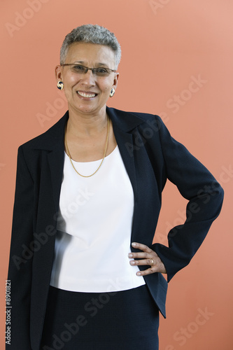 Portrait of a mature African American woman.