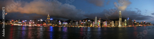 Hong Kong cityscape by night